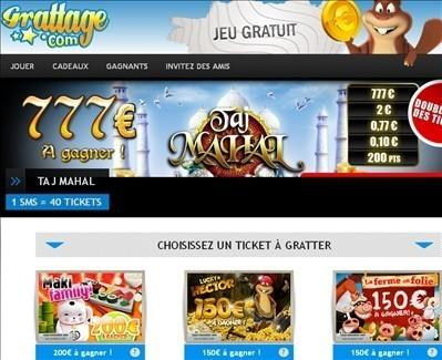 Jouez gratuitement sur grattage.com et gagner des cadeaux en grattant.