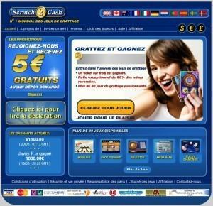 Recevoir 5 Euros sur Scratch2cash