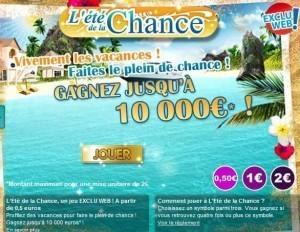"""Le jeux à gratter """"Eté de la chance"""" de la Française des Jeux"""