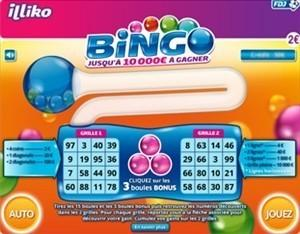 Carte de grattage Bingo de Illiko